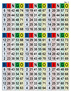 Bingo Cards, 1008 cards, 9 per page, pdf download, multi
