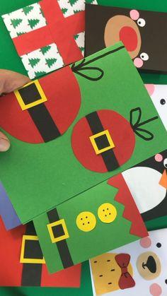 Christmas Card Crafts, Christmas Cards To Make, Christmas Activities, Handmade Christmas, Holiday Crafts, Christmas Christmas, Christmas Chocolate, Crochet Christmas, Christmas Videos