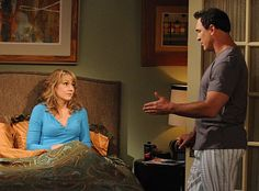 Megyn Price and Patrick Warburton in Rules of Engagement Megyn Price, Patrick Warburton, Rules Of Engagement, Picture Photo, Tv Series, Singer, Actresses, Celebrities, Pictures