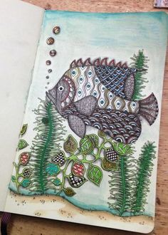 Amazing zentangles in this blog post -- try out the border on the fern next time!  Zentangle Flowers 1 - Gwen Lafleur