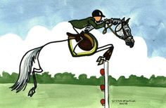 """another from Giddy Up Studio, a """"Stick"""" showjumper - clever creation!"""