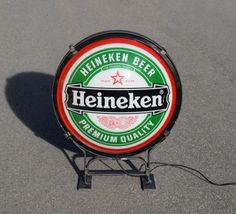 enseignes lumineuses des années 1970 à 80: Bières, essence, cigarettes