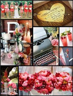 Coral Wedding Board
