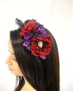 Flower Crown Day of the Dead Flower Headband by RuthNoreDesigns
