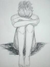 drawing of sad girl - Google Search