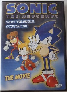Sonic the Hedgehog: The Movie DVD 1999 Animated Video Game Based Sega ADV Films