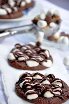 "Rocky Road Cookies {Mmm, yummy - but looking more like ""S'mores"" to me. ;) <3}"
