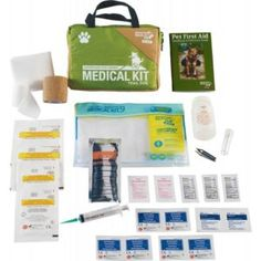 Adventure Dog Trail Medical Kit - Contents Disaster Preparedness, Survival Prepping, First Aid Treatment, Camping First Aid Kit, Medication For Dogs, Medical Bag, Pet Dogs, Pets, Adventure