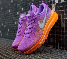Nike Flyknit Air Max WMNS-Atomic Purple-Total Orange
