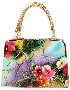 Genti de vara colorate - print floral piele lacuita #gentivintage Shoulder Bag, Floral, Vintage, Fashion, Moda, Fashion Styles, Shoulder Bags, Flowers, Vintage Comics