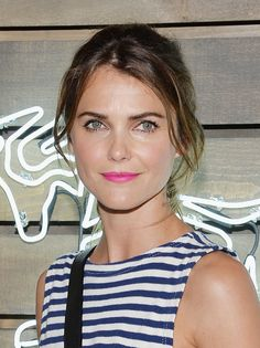 Keri Russell Will Make Want to Pick Up a Tube of this Chic, Happy Pink Lip Color ASAP