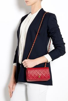 Chanel True Red Quilted Caviar Mini Classic Flap Bag, Sold Out in ... : chanel mini quilted bag - Adamdwight.com