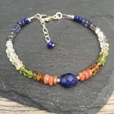 Резултат с изображение за lapis lazuli handmade bracelet