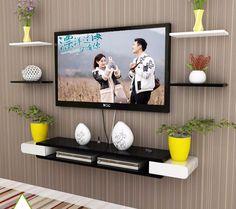 Impressive TV Wall Units and Display Shelves - Decor Inspirator, tv wall ideas, Wall Unit Designs, Living Room Tv Unit Designs, Tv Wall Design, Wall Shelves Design, Display Shelves, Tv Display, Tv Unit Decor, Tv Wall Decor, Tv Wanddekor