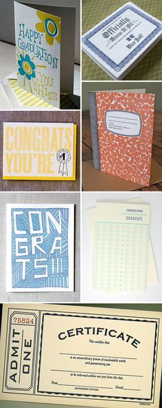 Grad Card Ideas for all the other wonderful people in my life that are graduating..