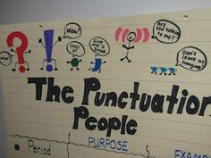 Punctuation People - could easily add semicolons, etc.