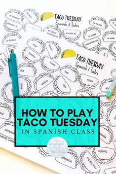 Taco Tuesday is one of my FAVORITE games to play each year! This competitive activity is designed with middle and high school Spanish students in mind, but I have seen it played at lower levels as well! This tutorial post will talk you through game prep, gameplay, and various differentiation ideas to try with all of your language learners. Editable templates are available, as well as pre-made game sets. Digital options are ready now too! Click through to learn more! High School Activities, Spanish Activities, Class Activities, Hands On Activities, Reading Activities, Fun Learning Games, Class Games, Spanish Classroom, Teaching Spanish