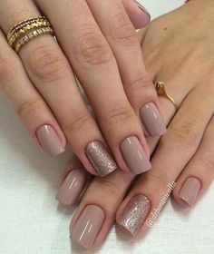 Find images and videos about nails, nail polish and manicure on We Heart It - the app to get lost in what you love. Neutral Nails, Nude Nails, Pink Nails, My Nails, Chevron Nails, How To Do Nails, Square Acrylic Nails, Acrylic Nail Designs, Classy Nails