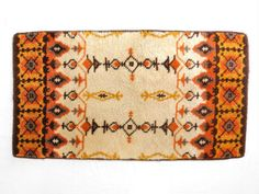 orange & beige rya rug