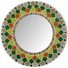 Mirror Mosaic Round SUNFLOWER Wall mirror Choose by SunAndCraft,