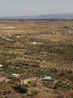 View from the castle in Oria, Almeria, Spain