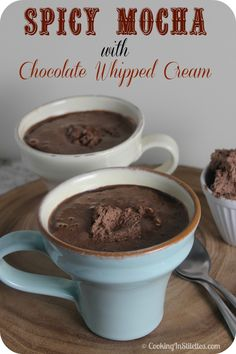 A Spicy Mocha With Chocolate Whipped Cream To Start The Day #BrunchWeek - Cooking In Stilettos™  http://cookinginstilettos.com/spicy-mocha-with-chocolate-whipped-cream/  #Coffee #Mocha #Chocolate #Espresso