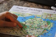 Spark and All: FIAR - Make Way for Ducklings - Mapping the route the ducklings took through downtown Boston!