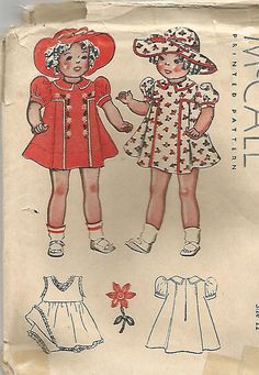 1930s Doll Clothes Pattern for 22 Inch Doll McCall by kinseysue