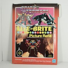 Vintage 1985 Lite Brite Transformers Patterns 21 Blank Picture Refill Sheets | eBay