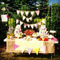 Brunch Bar, Yard Sale, Lemonade, Table Decorations, Birthday, Party, Food, Home Decor, Birthdays