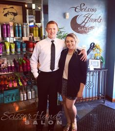 Stylist Gabby had her brother stop in for a quick style before he heads off to senior prom.