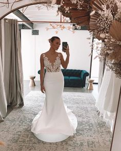 """Jeannelle l'Amour Bridal on Instagram: """"✨ H A R L O W ✨ ⠀⠀⠀⠀⠀⠀⠀⠀⠀ Our fitted Harlow has landed at @theveilcollective in Australia and we couldn't be more excited. She features an…"""" Mermaid Wedding, Australia, Bridal, Wedding Dresses, Fitness, Instagram, Fashion, Bride Dresses, Moda"""