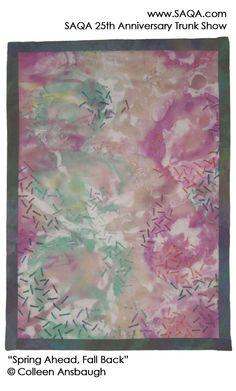 Art quilt by Colleen Ansbaugh #artquilts #SAQA