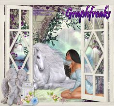 ENCHANTED MEADOW2 This is a beautiful soft and gentle fantasy tube, which boasts of a serene and peaceful time between a lovely maiden and her unicorn. This tube, as well as, all of Graphfreaks' tubes are available at Scraps N Company http://scrapsncompany.com/index.php?main_page=index&manufacturers_id=81 Be sure to visit my blog to pick up some snags made from this lovely tube.http://terrysdezignz.blogspot.com/