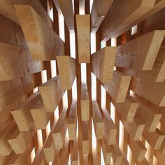 Wooden pavilion by architect David Adjaye.