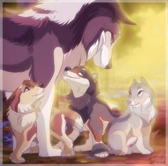 She's the mother of three pups, Storm, Dew, and Birch. Although she has a lot to take care of, she had earned the rank of leader with her extraordinary hunting skills. The father of her pups is Mud. Played by Girls Sarrgent. Anime Wolf, Feral Heart, Cartoon Wolf, Fantasy Wolf, Wolf Pictures, Fox Art, Anime Animals, Furry Art, Art Drawings