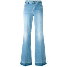 Stella McCartney 70's Flared Jeans ($495) ❤ liked on Polyvore featuring jeans, flare jeans, blue jeans, 5 pocket jeans, frayed jeans and stella mccartney