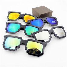 5 Couleurs Femmes Hommes lunettes de Soleil De Mosaïque revêtement Affaire avec il pixels lunettes maynkraft points Rétro Femme Homme Lunettes(China (Mainland))