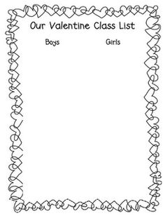 valentine classroom printable