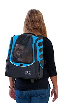 Dog Strollers - Pet Gear IGO2 Escort Roller Backpack for cats and dogs Ocean Blue ** You can get additional details at the image link. (This is an Amazon affiliate link)