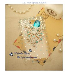 DIY Bling 3D crystal octopus fish Cell Phone Case for Samsung Galaxy Note I9220 | eBay