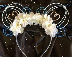Cinderella Inspired Wire Mickey Ears Headband #diy #mickeyears #disney #disneyears #minnieears #mouseears #disneyheadband