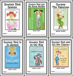 Gooney Bird Greene COLLECTION (Lois Lowry) 6 Novel Studies (174 pages) * Follows the Common Core Standards *  This Gooney Bird Greene COLLECTION contains 6 Novel Studies from the Gooney Bird Greene series by Lois Lowry. In total, there are 174 pages. Each Novel Study is in booklet-style format.