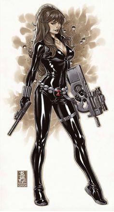 Black widow Black Widow Natasha, Marvel Dc Comics, Marvel Art, Marvel Heroes, Marvel Avengers, Anime Comics, Comic Books Art, Book Art, Marvel Women