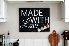 1. Make your own chalkboard sign!