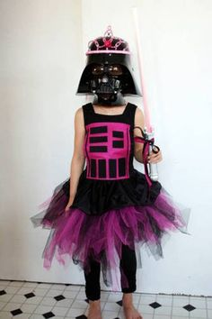 *Best Halloween Costume for Geeky Young Girls*  Because every little girl should be able to be Darth Vader and a Princess at the same time. geek