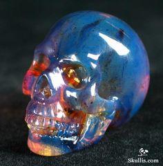 Skull carving in Dominican blue amber from Skullis.com