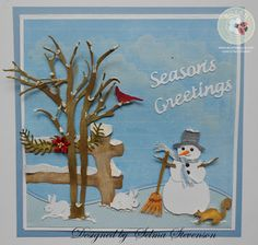 Selma's Stamping Corner and Floral Designs: CountryScapes Snowman