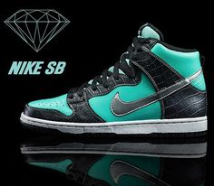 sports shoes 9d37b 36788 Diamond Supply Co x Nike SB Dunk High-Tiffany All Nike Shoes, Nike Shoes