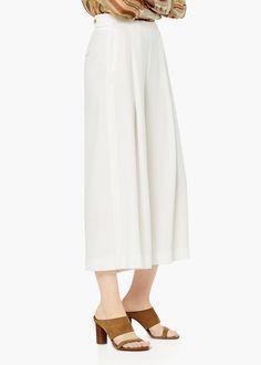Premium - pantaloni palazzo fluidi - Pantaloni da Donna | MANGO